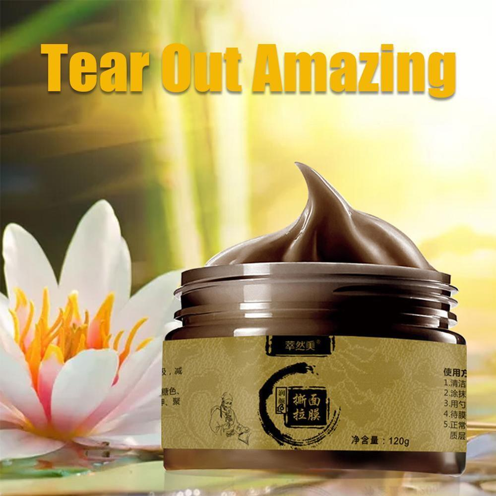 Herbal Beauty Peel-off Mask Transitional Herbal Ginseng Black Head Peel Off Face-pack Clean Pores Blackheads Facial Face-pack
