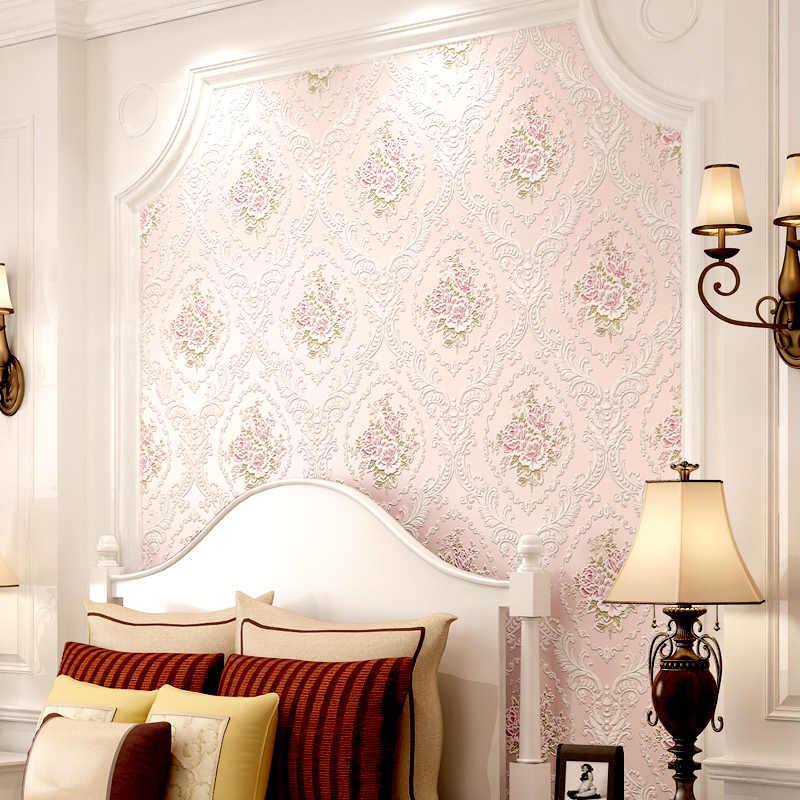 3 メートルの長さ、 53 センチメートル幅自己粘着ヨーロッパ 3D 三次元壁紙ベッドルーム、リビングルームの壁紙学生 dormit