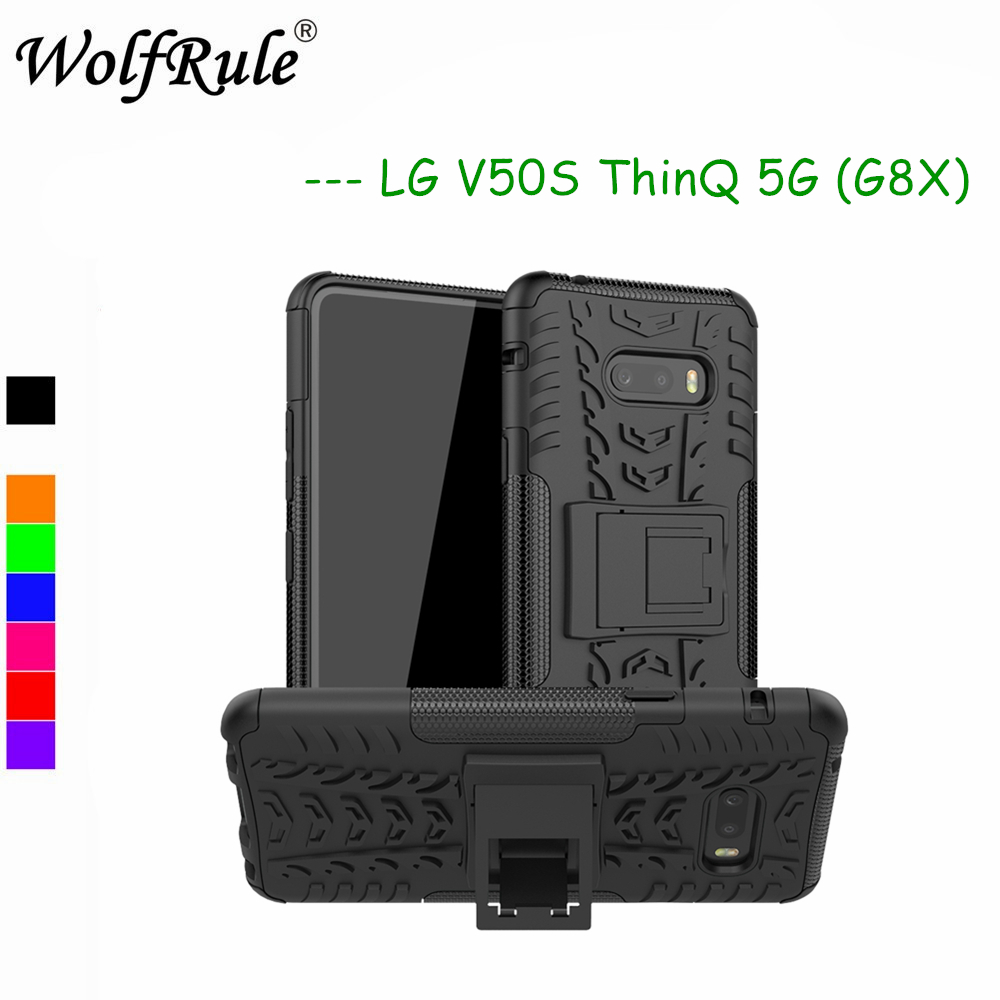 Case For LG V50S Thinq 5G Phone Cover Dual Layer Armor Silicone Back Case For LG V50S Holder Stand Shell For LG V50S Thinq 5G