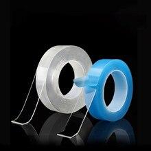 Adesivos seladores fita super forte dupla face reutilizável dois rosto limpo nano acrílico cola gadget magica adesivo 3 m a +