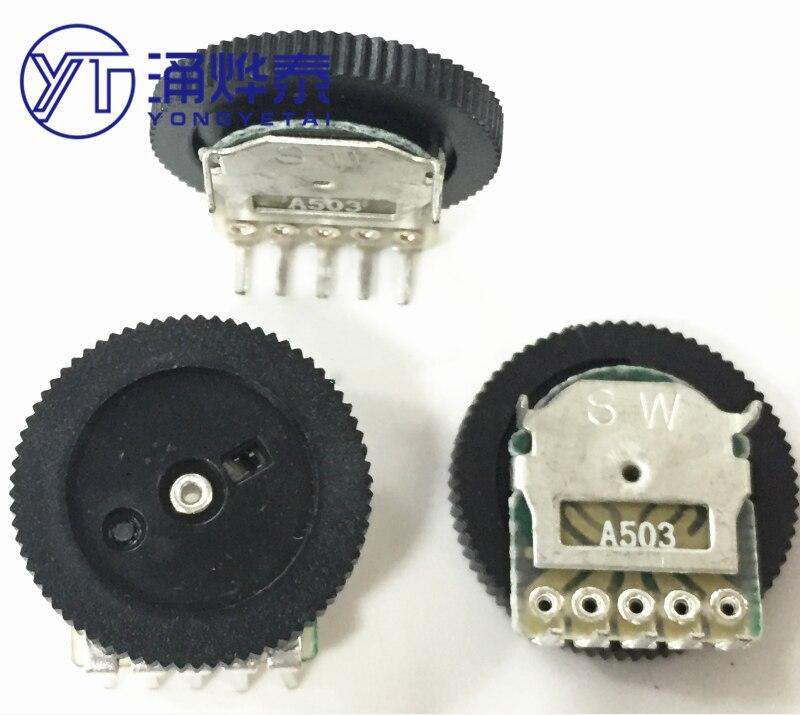 YYT-potentiomètre à cadran double cadran 16*2, A50K, A503