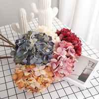 Nordic Sztuczne Kwiaty hortensji Retro suche hortensja symulacji fałszywe Kwiaty oddział domu dekoracje ślubne Sztuczne Kwiaty