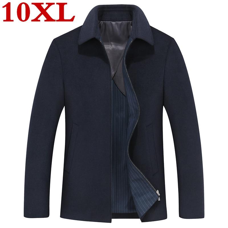 new plus size 10XL 9XL 8XL Winter Jacket Men Thickening Wool Coat Fit Jackets Outerwear Warm Man Casual Jacket Overcoat Pea Coat