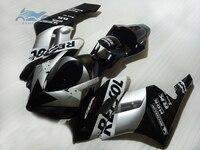 Custom you Injection fairing kit fit for Honda CBR 1000RR 2004 2005 CBR1000RR 04 05 ABS plastic fairing kits silver black KR05