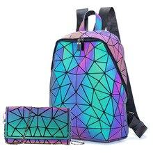 Brand Design Luminous Backpack Sequin women Backpac