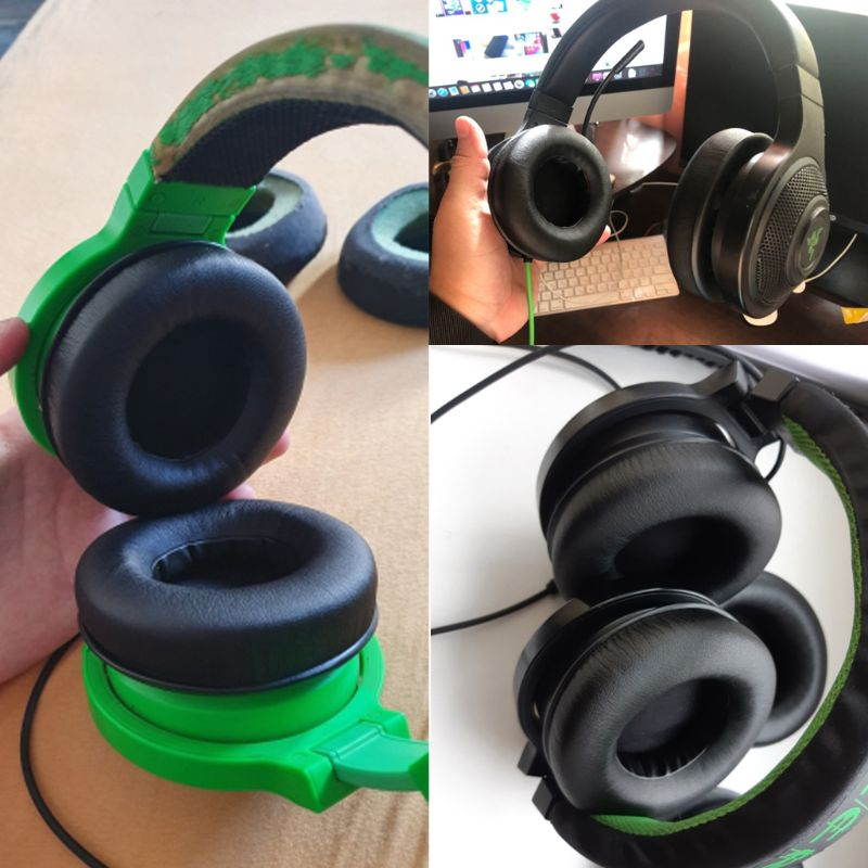 1 Pair 90mm Earmuff Ear Cushion Pads For Razer Kraken Pro Gaming Headphones