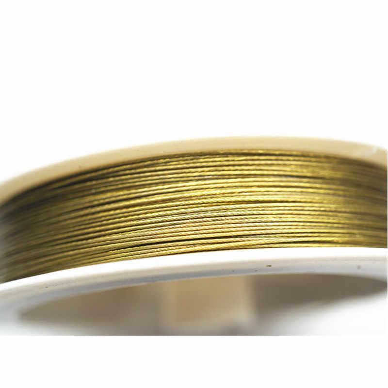 30 m/rolka srebrny Tone żyłka do nawlekania koralików 0.3/0.35/0.45/0.5/0.6mm powlekany drut ze stali nierdzewnej Tiger Tail do tworzenia biżuterii znalezienie