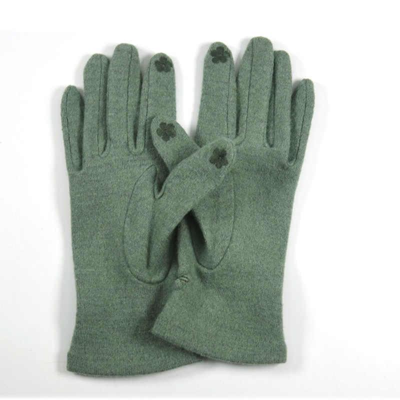 手袋冬の女性のウールの女性ミトン女性のためのニットカシミヤ暖かい手首 Luva 手手袋暖かい Guantes Invierno Mujer