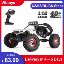 WLtoys XK 12429 1:12 RC Car Crawler 40km/h 4WD 2.4G Electric Car with Head Lights All Terrain RC Off-Road Car Gift for Kid Adult