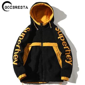 GOESRESTA 2020 Brand New Men's Double-sided Jacket Fashion Wild Autumn And Winter Streetwear Loose Warm Jacket Jacket Men goesresta 2020 tide brand men down jacket 90