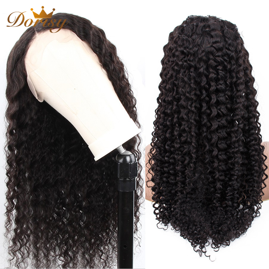 Curly Lace Front Human Hair Wigs 150% Density Kinky Curly Wigs 13x5 Lace Front Human Hair Wigs For Black Women Dorisy Remy Hair