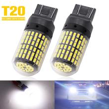 2pcs T20 7440 W21W LED Bulbs 3014 Chips Turn Signal Lights 144 SMD LED White Lights Lamp For Car Auto Brake Stop Lamp Reverse pair red 158 smd 1157 2357 7528 led bulbs for turn signal lights tail lights brake stop lights for ford peugeot srt infiniti