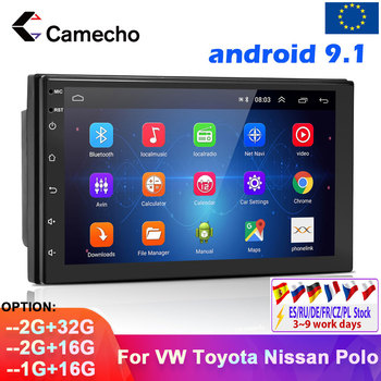 Camecho 2 din Android 9.1 Car Radio Multimedia Player GPS Universal For VW/ Altea/Toledo/Leon/Skoda/Fabia/Seat/Passat/Golf/Polo image