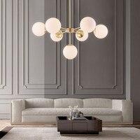 Modern Chandelier Pendant Glass Ball Lights Suspension Lighting Fixture Globe Lamp Modern Kitchen Loft Lighting Fixtures