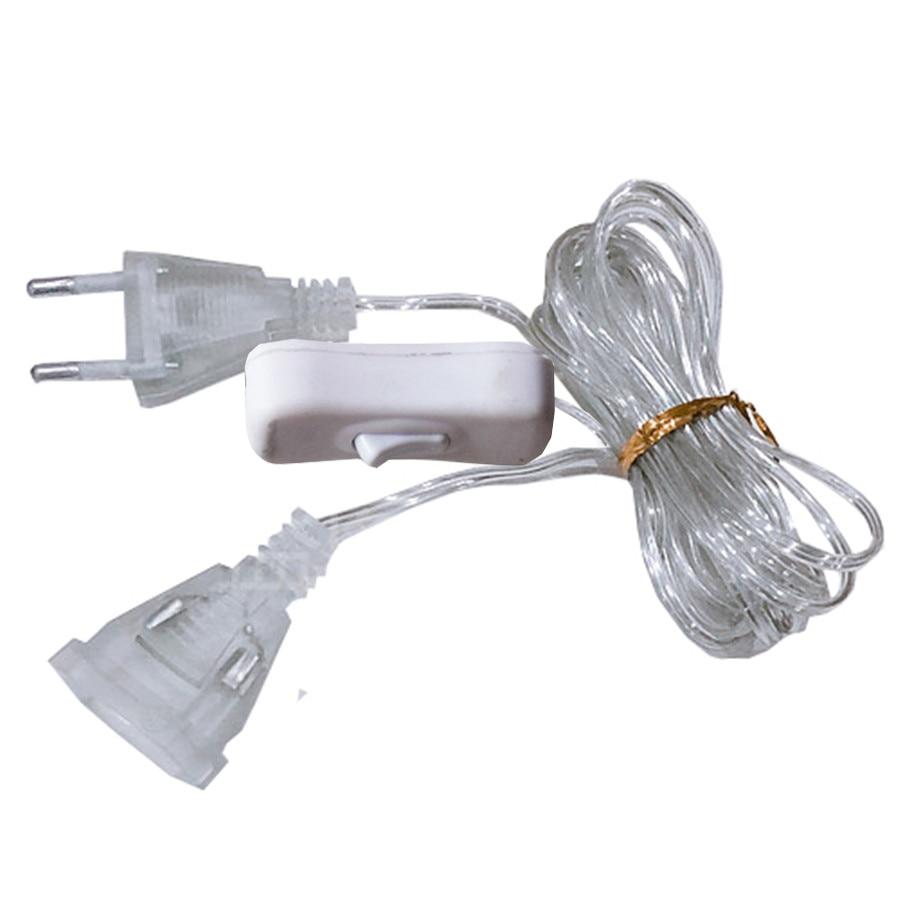 Thrisdar 3M Cable de extensión con interruptor de encendido/apagado para Navidad vacaciones boda fiesta guirnalda de luz enchufe UE/EE. UU. DIY Hut vacaciones tiempo hecho a mano modelo creativo hecho a mano juguetes de construcción regalo de cumpleaños de las niñas
