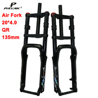 Pasak Fat Bike Fork 20*4.0 QR 135mm Mountain Bicycle Snow Bike Suspension Air Forks Fit 4.0