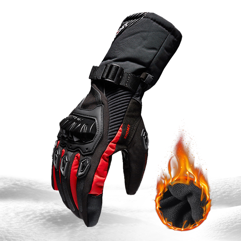 Image 3 - SUOMY Motorcycle Gloves Men 100% Waterproof Windproof Winter Moto Gloves Touch Screen Gant Moto Guantes Motorbike Riding Gloves-in Gloves from Automobiles & Motorcycles