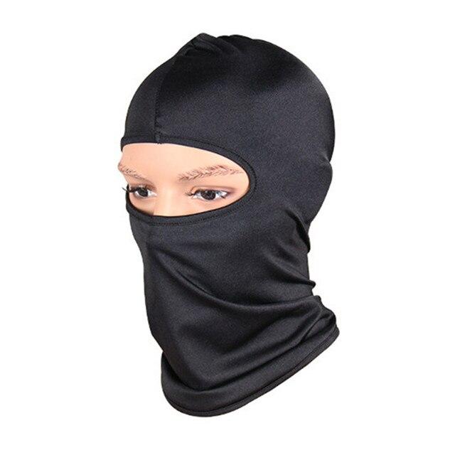Black Face Mask Motorcycle Balaclava Tactical Face Shield Mascara Ski Mask Cagoule Visage Full Face Mask Gangster Mask