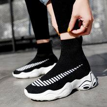 MWY Breathable Elasticity Socks Sneakers Platform Unisex Footwear Casual Shoes Flats Women Ankle Boot Dames Schoenen