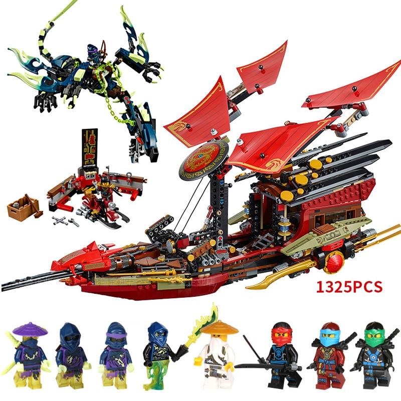 1325pcs  Ninjagoing Final Flight Of Destiny's Bounty Building Blocks Toy For Children DIY Ninja Brick Gift