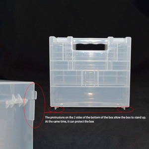 Image 2 - Transparent Plastic Battery Holder Box Container for AA and AAA Battery Storage Boxes Case Cover for Battery Organizer Holder