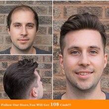 Bymc мужские s toupee тонкие mono 100% индийские remy Волосы