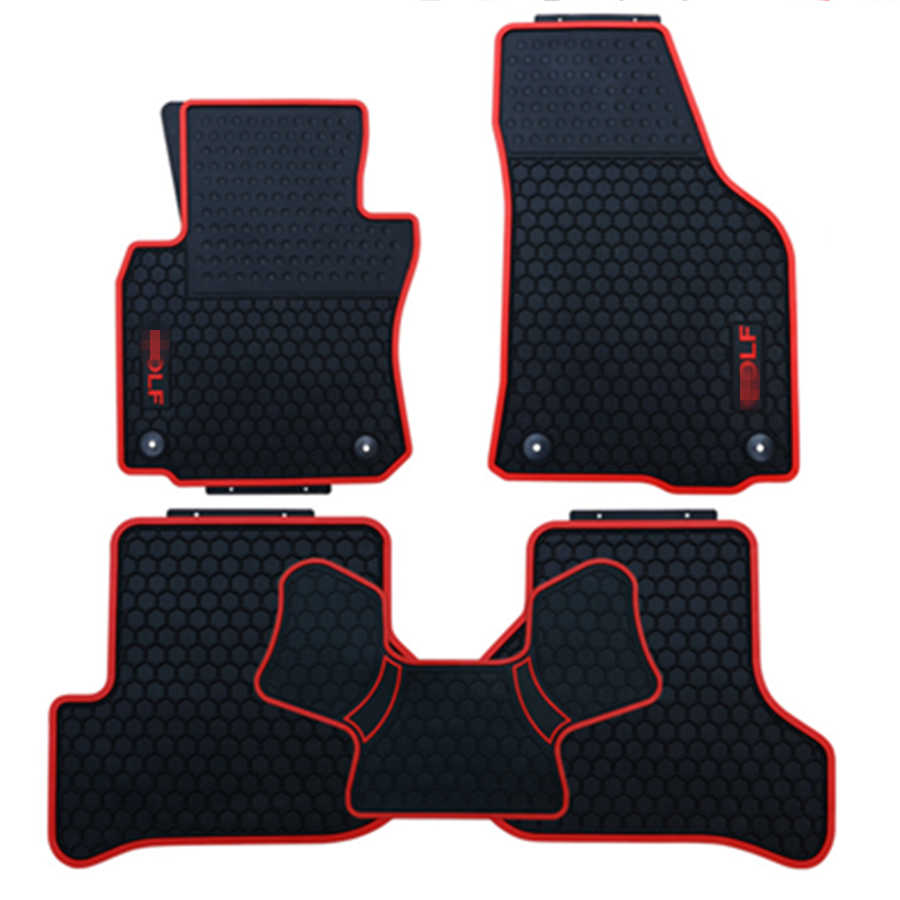 SJ Custom Fit ALL Weather Auto Vloermatten Voor & Achter FloorLiner Anti-slip Tapijt Voor Volkswagen VW GOLF 6 7 7.5