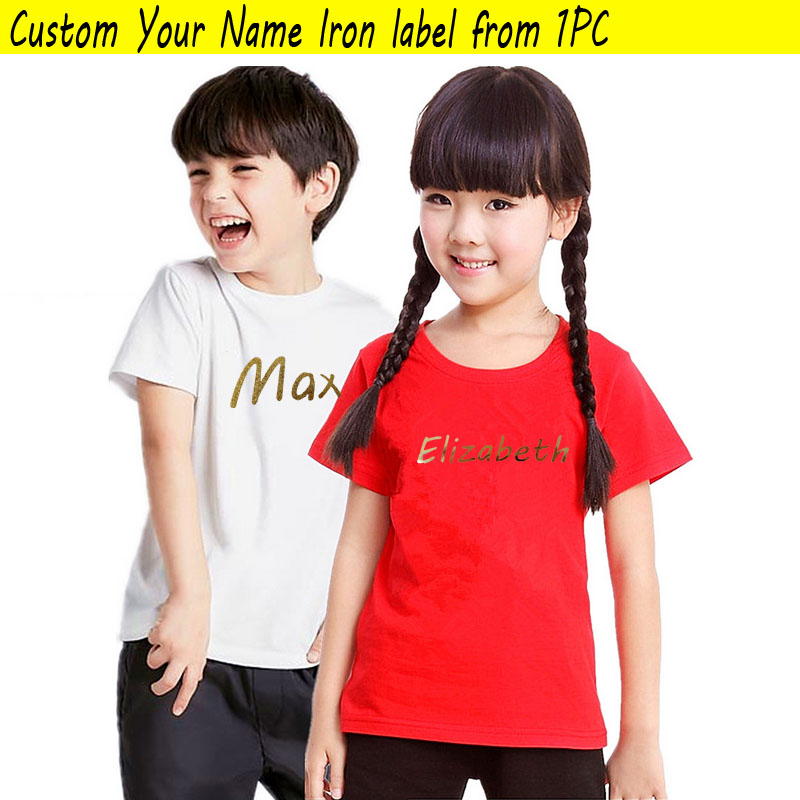 Kids Baby Child Dog Golden Labels Custom Cap/t-shirt/bag Clothes Print Name Patches Son Daughter Personal Iron Vinyl Name Label