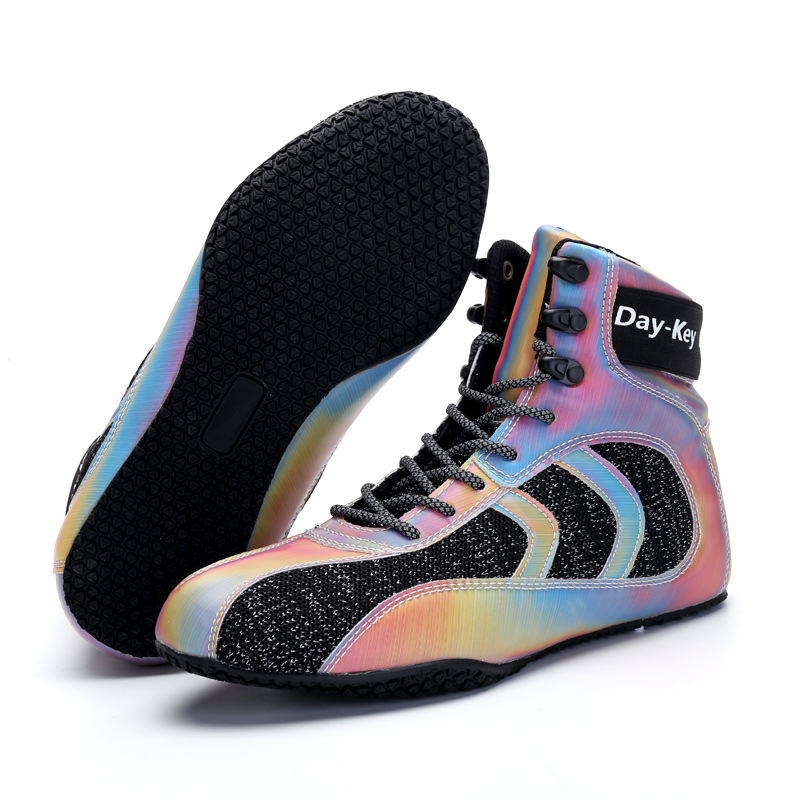 TaoBo Original Daykey Squat Training Shoes High Top Authentic Wrestling Shoes For Men Reflective Design Lace Up Boxing Boots