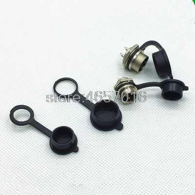 "7/16"" GX12 Aviation Circular Connector 2 Pin 3pin 4pin 5pin 6pin 7pin Male Plug& Female Socket 12mm Dust cap"