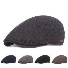 Зимние хлопковые береты, кепка для мужчин и женщин, плоская кепка s Newsboy Baker, береты Duckbill Golf, для вождения, кепка, шляпа boinas para mujer# guahao