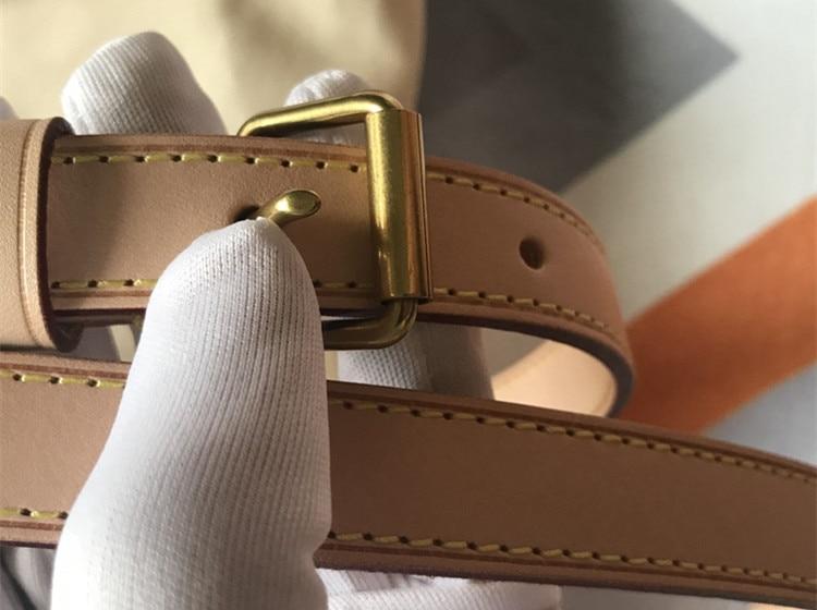 Partes de bolsos y accesorios bolsos de marca correa de cuero genuino longitud 115cm bolso de alta calidad de cuero curtido vegetal correa de hombro - 2