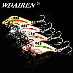 1Pcs Metal VIB Cicada Lures Vivid Vibrations  Spoon Lures 10g 15g 20g Winter Sequins Fishing Bait Bass Artificial Hard Baits