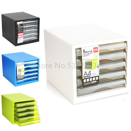 File Cabinet 5 A4 Color Plastic File Cabinet Drawer Office Storage Cabinet