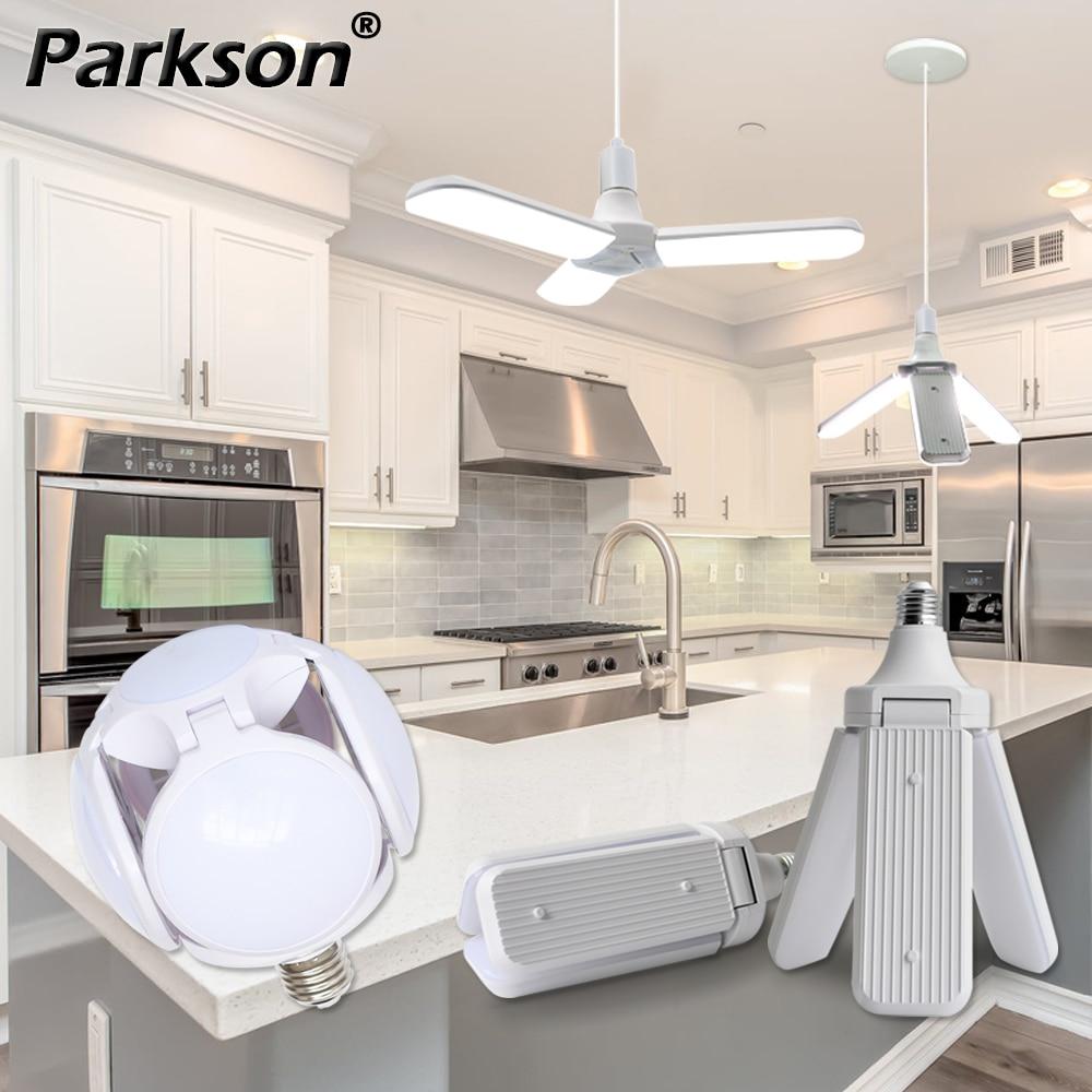 E27 LED Lamp 30W 40W 45W 60W LED Bulb 220V Super Bright Angle Adjustable Foldable Fan Blade Lampada LED Light Bulb Lamparas