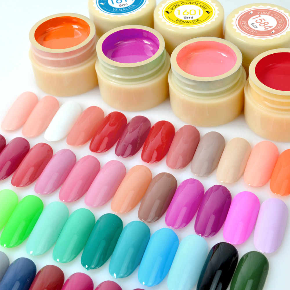 Venalisa Kleur Gel Verf Uv Nail Gel Soak Off Nail Art Led Nail Lak 60 Kleuren Glitter Regenboog Schilderen Gel nagellak