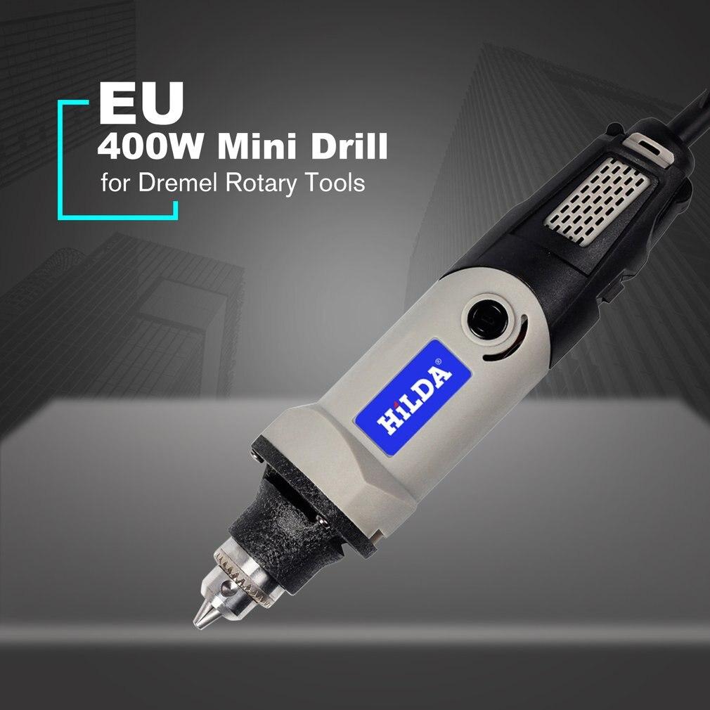 Narzędzie obrotowe ze zmienną prędkością elektronarzędzia 400W Mini wiertarka 6 pozycja dla narzędzi obrotowych Mini szlifierka