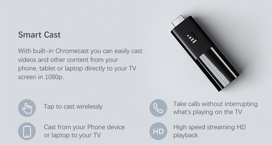 Mi TV Stick only has 1GB RAM 2K(1080P) version CPU: Quad-core Cortex-A53 2.0GHZ operation system…