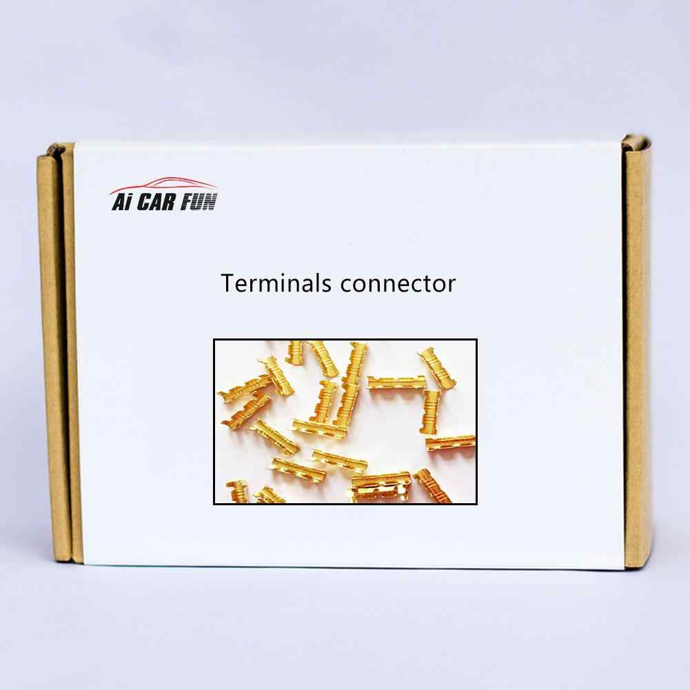 100pcs U-shaped Wiring Copper Connection Terminal Docking Connector Line Pressing Button Quick Wiring Terminals 0.5-1.5mm Square