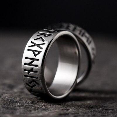 Оптовая продажа 316L нержавеющая сталь один норвежский викинг амулет Руна для мужчин кольцо Мода слова ретро кольца украшения подарок для па...