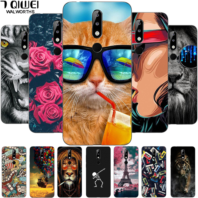 5.86'' For Nokia 5.1 Plus Case Silicone Soft TPU PhoneCase For Nokia 5.1+ Case Cover For Nokia 5.1 Plus Full Protection Fashion