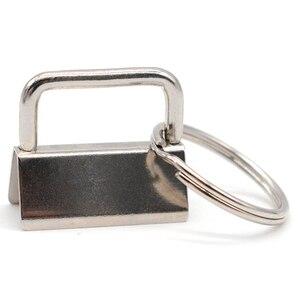 Image 3 - 60 sztuk klucz pierścień sprzętu brelok bransoletka elementy konstrukcyjne z smycz pierścień, brelok do kluczy sprzętu i podział pierścień dodatki