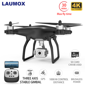 LAUMOX X35 Drone GPS WiFi 4K HD Camera Professional RC Quadcopter Brushless Motor Drones Gimbal Stabilizer 26 minute flight ipower motor gbm5208h 200t brushless gimbal motor with magnetic encoder for dslr gimbal stabilizer