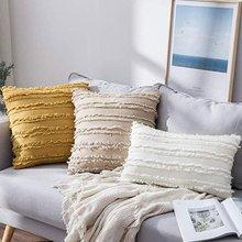 Декоративная подушка в стиле бохо хлопково Льняная наволочка