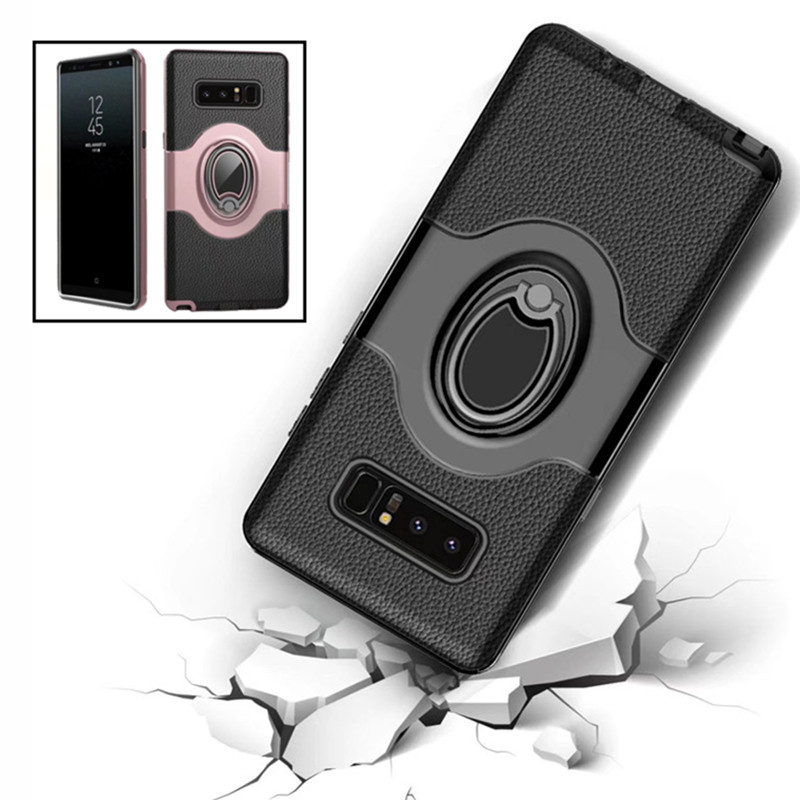 Anti-Fall Hybrid Protection Phone Case For Samsung Galaxy S10 S8 S9 Plus S10E Note9 8 10 Plus S7edge With Finger Ring Soft Cover