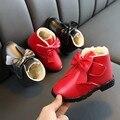 Детская Обувь; зимние детские ботинки с бантом для маленьких девочек; теплые спортивные зимние ботинки ботиночки; повседневная Обувь для мл...