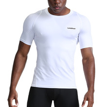 New Quick Dry Running Shirt Men Bodybuilding Sport T-shirt Short  Sleeve Compression Top Gym t Shirt Men Fitness Tight цена и фото