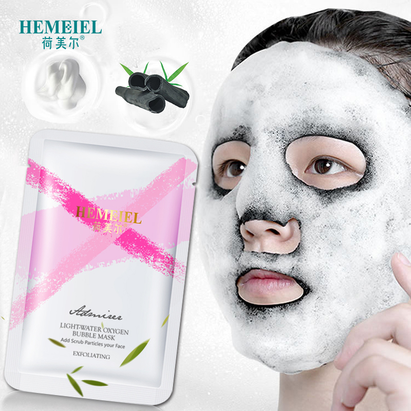 HEMEIEL NEW Detox Oxygen Bubble Mask Bamboo Charcoal Whitening Face Mask Deep Clean Acne Treatment Korean Sheet Mask Skin Care
