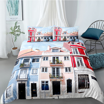 Creative House Bedding Set King Country Style Fresh 3D Duvet Cover Soft Queen Twin Full Single Double Unique Design Bed Set