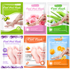 6packs Feet Peeling Mask Removes Calluses Dead Skin Exfoliating Foot Mask Scrub Socks for Pedicure Socks Foot Care Feet Patches